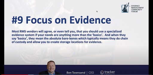 focus on evidence